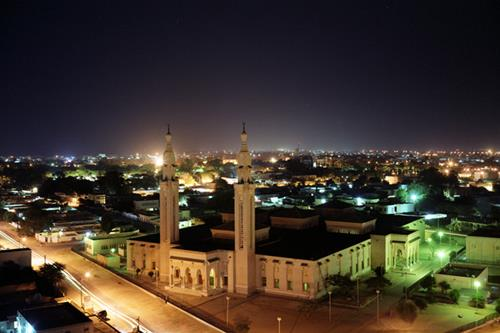 Vue nocturne de Nouakchott/Crédit photo